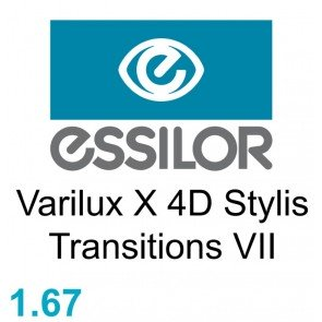 Essilor Varilux X 4D Stylis Transitions VII / Xclusive