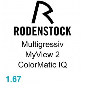 Rodenstock Multigressiv MyView 2  ColorMatic IQ 1.67