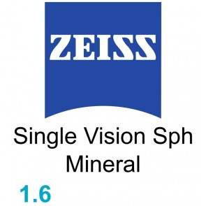 Zeiss Single Vision Sph Mineral 1.6