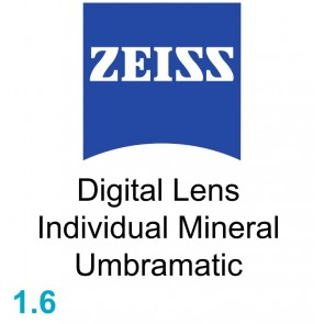 Zeiss Digital Lens Individual Mineral 1.6 Umbramatic