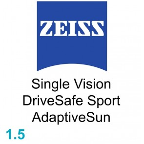 Zeiss Single Vision DriveSafe Sport 1.5 AdaptiveSun