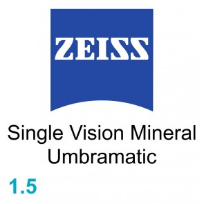 Zeiss Single Vision Mineral 1.5 Umbramatic
