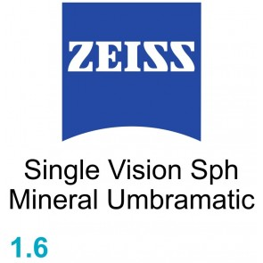 Zeiss Single Vision Sph Mineral 1.6 Umbramatic