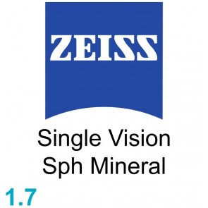 Zeiss Single Vision Sph Mineral 1.7