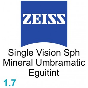 Zeiss Single Vision Sph Mineral 1.7 Umbramatic Eguitint