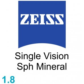 Zeiss Single Vision Sph Mineral 1.8