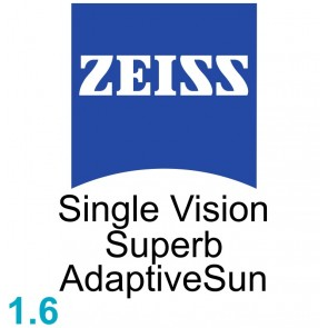 Zeiss Single Vision Superb 1.6 AdaptiveSun