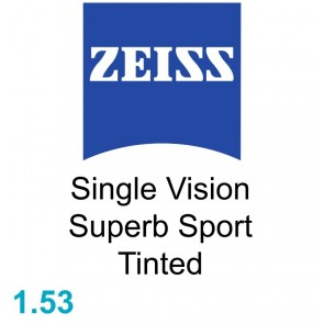 Zeiss Single Vision Superb Sport 1.53 Tinted