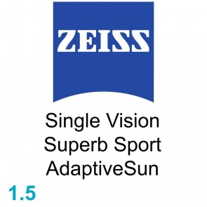 Zeiss Single Vision Superb Sport 1.5 AdaptiveSun