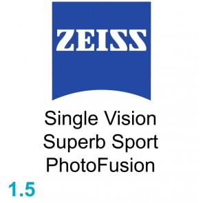 Zeiss Single Vision Superb Sport 1.5 PhotoFusion